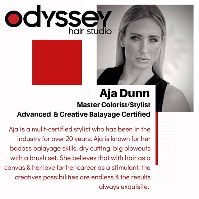 We couldn't be more excited to have @ajadunn1 join our team next week! Welcome to your new home and cheers to many more years of success and fun! 🥂✂️❤️ . . . #odysseyhairstudio #arrojoambassador #phillysalon #phillyhairstylist #centercitysalon