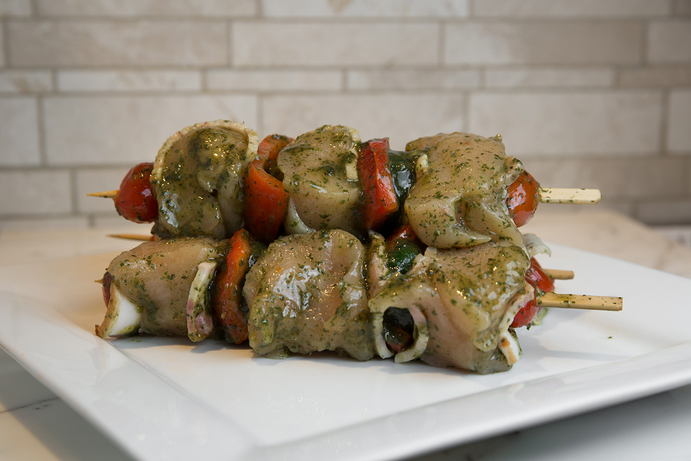 Bacon Wrapped Chicken Breast Kabobs