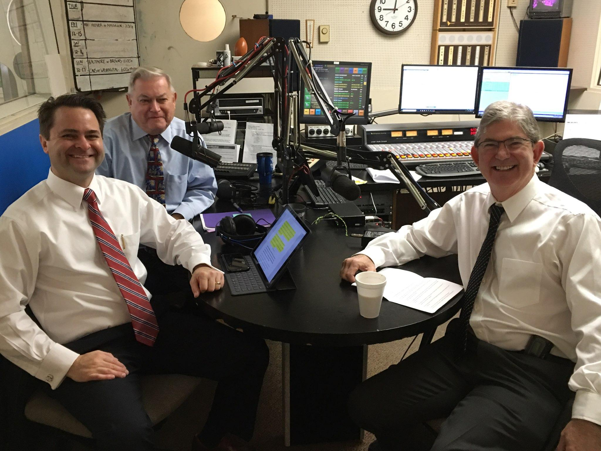 (L-R) Health Matters Hosts Brad and Paul White with Dr. Steven Hirsch, interventional cardiologist with  Mercy Cardiovascular Institute