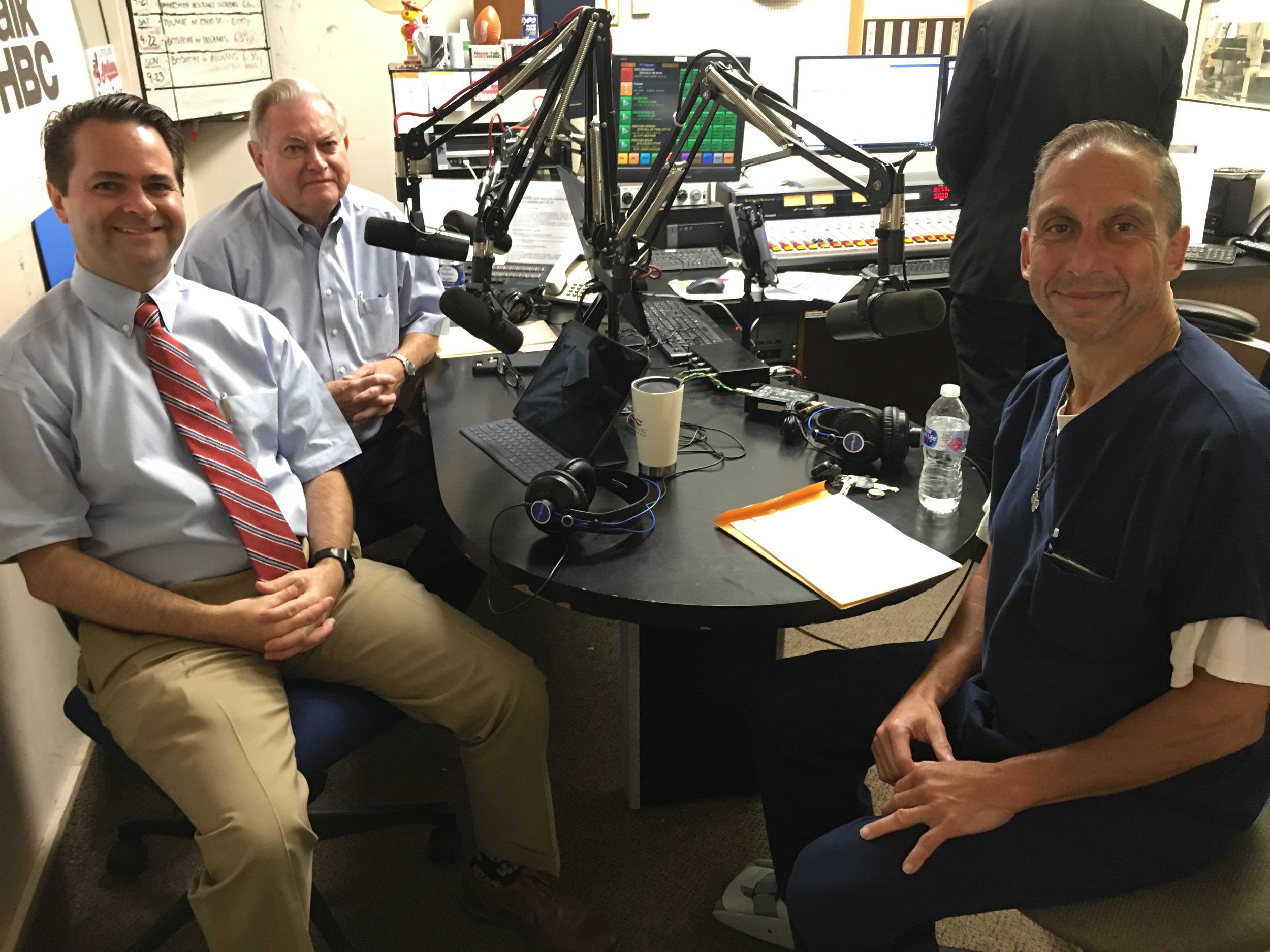 Dr. David Gutlove (right) discusses low back pain symptoms, treatment, exercise and more on Health Matters with pharmacists Brad White and Paul White.