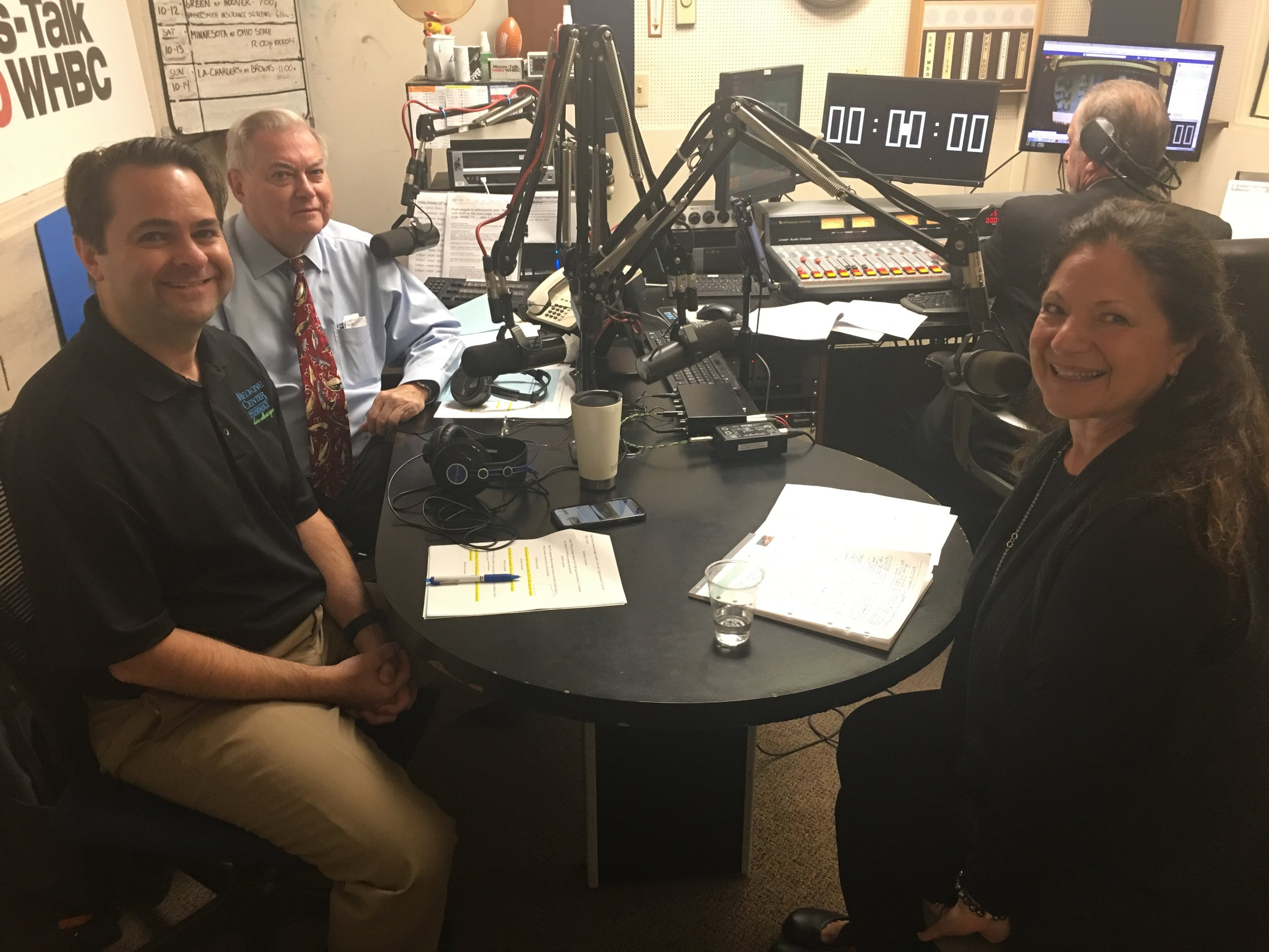 Pharmacists and hosts, Brad White and Paul White talk with Mercy Medical Center's Barbara Frustaci about treatment options at Statcare and Emergency Departments.