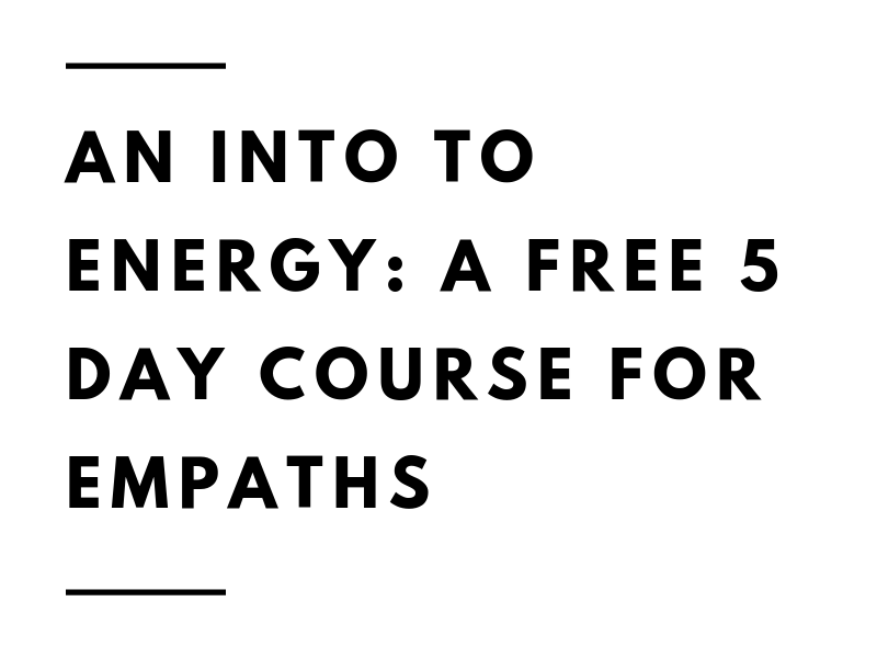 an intro to energy