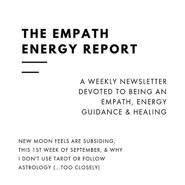 As empaths, we experience energy differently than others. ⠀ ⠀ And each week I write a newsletter on being an empath, energy guidance & healing, to help us manage our energy and be aware of what is coming up for us as a collective. ⠀ ⠀ I have an innate gift of being able to see & know what is coming up for the empath community, how it relates to our energy and what is going on universally for us as wayshowers here on earth. ⠀ ⠀ So every week, I tune into the energy of everyone on my email list, and tap into what exactly we need to know, and how it's affecting us. ⠀ ⠀ The Empath Energy Report is my free gift to you each week - all you need to do is subscribe so I can tune into your energy. ⠀ ⠀ The next newsletter is released tomorrow, where I talk about the after effects of the new moon, this first week of September and what it's bringing us, as well as a guided message that came through for you all - about why I don't use tarot cards or follow astrology (too closely). ⠀ ⠀ You can find the link in my bio to sign up. ⠀ ⠀ In Grace & Peace ⠀ xo. Tanya