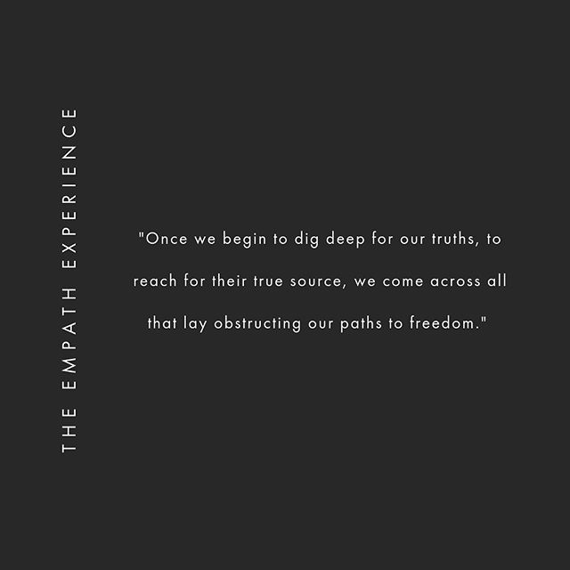 We seek to see & clarify our truth(s),⠀ ⠀ Unbeknownst to us that the path that lays before that endeavour is filled with unearthing all the pain & lies we've ever told ourselves.⠀ ⠀ The lies we've held onto as truths, ⠀ as scapegoats, as burdens, as familiar ways we've held ourselves down or out. ⠀ ⠀ And once we begin to dig deep for our truths, to reach for their true source, we come across all that lay obstructing our paths to freedom ⠀ ⠀ Freedom of thought, of mind, of heart & of love. ⠀ ⠀ Freedom of life itself. ⠀ In every which way we desire to experience it. ⠀ ⠀ ⠀ .⠀ .⠀ .⠀ .⠀ .⠀ #empathenergyreport⠀ #theempathexperience⠀ #empathtruths⠀ #spiritualjourney⠀ #divineguidance⠀ #empath⠀ #empathlife⠀ #healersofinstagram⠀ #higherfrequency⠀ #higherdimensions⠀ #higherawakening⠀ #higherawareness⠀ #godesses⠀ #divinefeminine⠀ #twinflame⠀ #higherconsciousness⠀ #spiritualawakening⠀ #awakening⠀ #healyourself⠀ #intuitivehealer⠀ #riseofthefeminine⠀ #enlightenment⠀ #consciousness⠀ #chakras⠀ #meditation⠀ #intuitive⠀ #highervibes