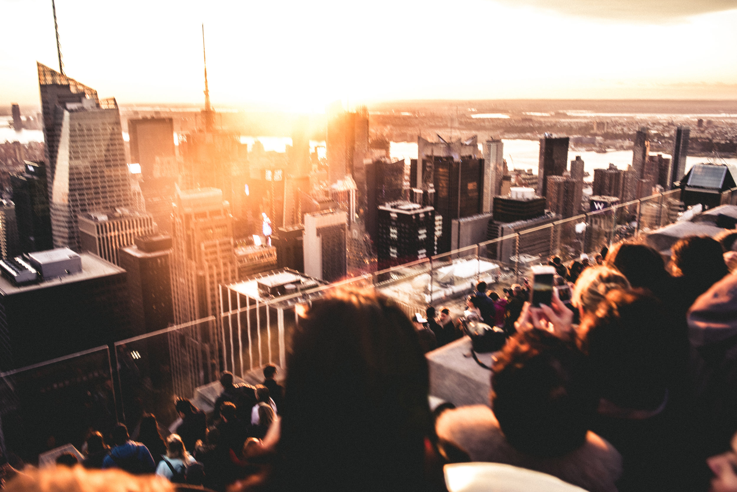 """Views from a 70 story building; The Rockefeller Center, NY.  """" Since our early days, humankind aimed big, high, colosal. Big houses, high buildings, colosal ideas. We expanded, we created, we evolved. Few places on this Earth remained untouched by our hunger for success. And that's how we know that we are unstoppable!"""" -  Eana Georgiana Cătălina"""