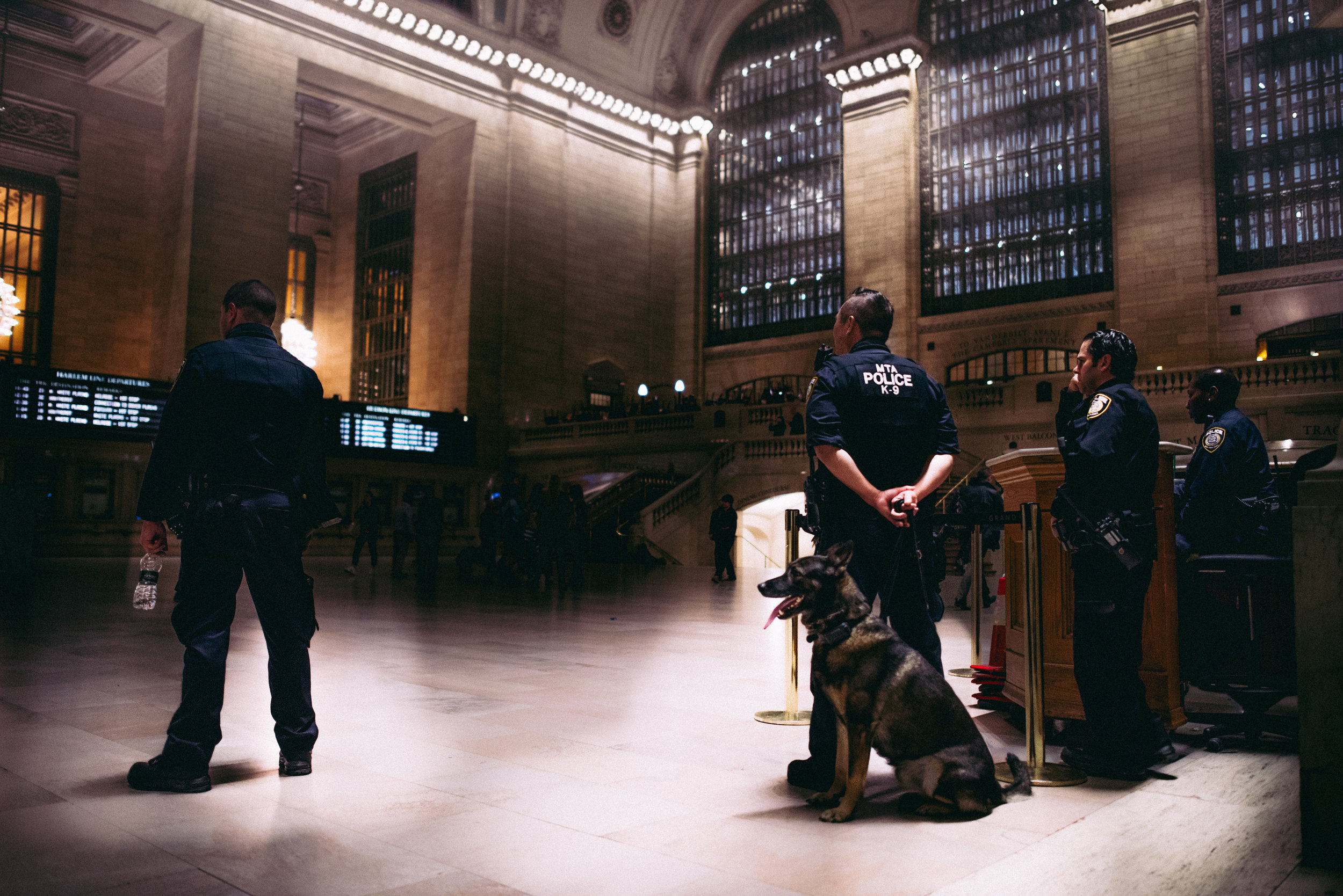 THANK YOU  Law Enforcement in their natural habitat inside the busiest train station in the USA; Grand Central Terminal. 750,000 people pass through Grand Central daily and over 1,000,000 people during the holidays