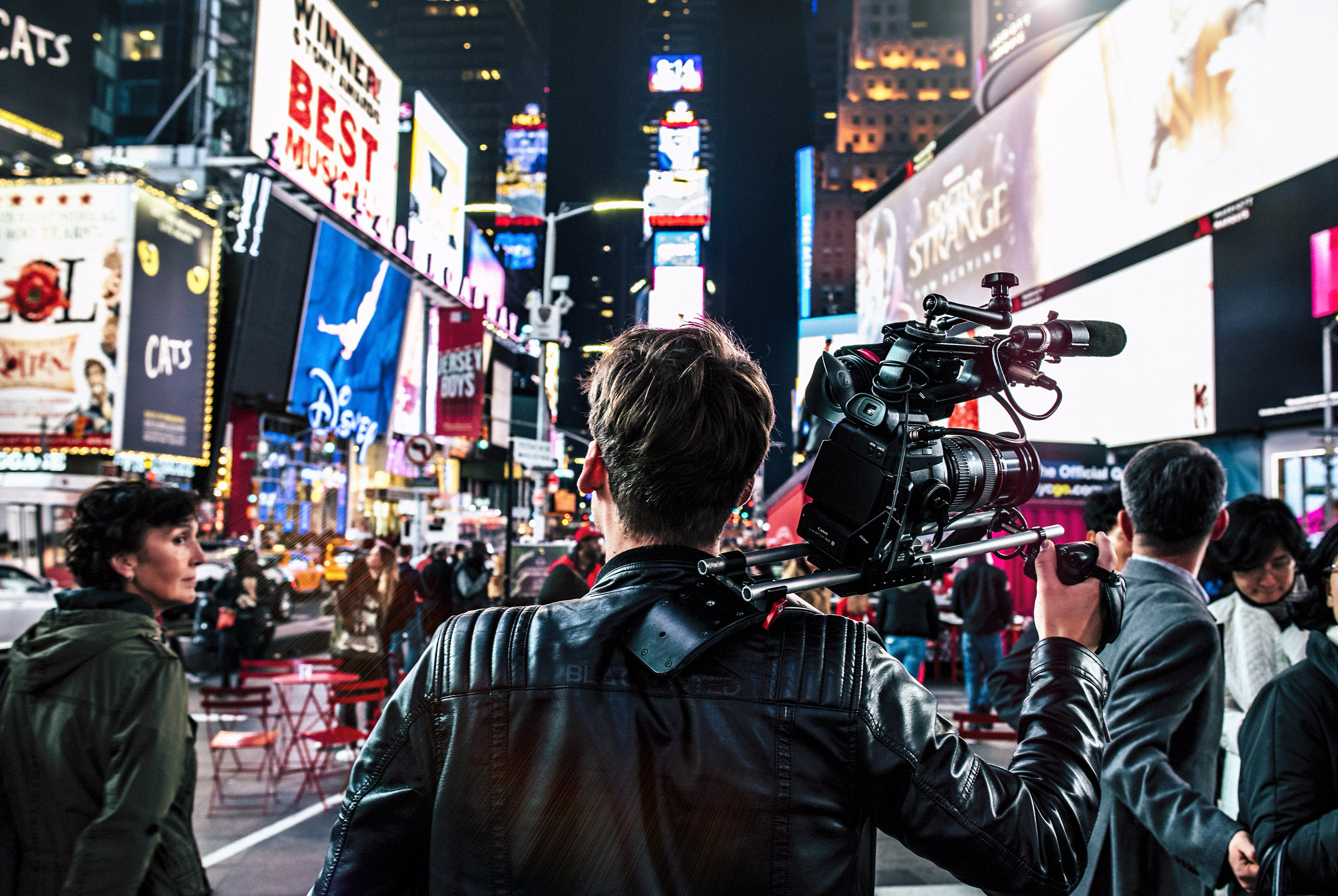 THE GRIND IS REAL  This is Pieter. He's a documentary videographer from the Netherlands and it was his first day in the USA and was already at work in Times Square, NY
