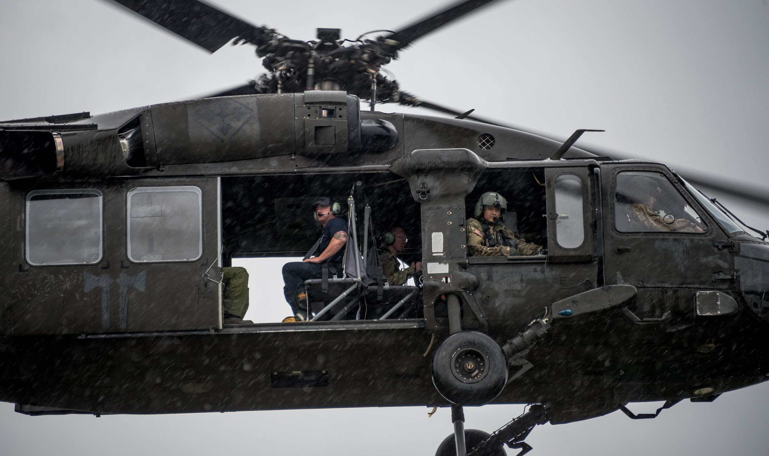 United States Army and MCHD EMS joined forces take off to go respond to 911 calls during hurricane Harvey in Humble, TX, United States on August 29, 2017.  Full editorial coverage for  Anadolu Agency  can be viewed  here (Getty Images)