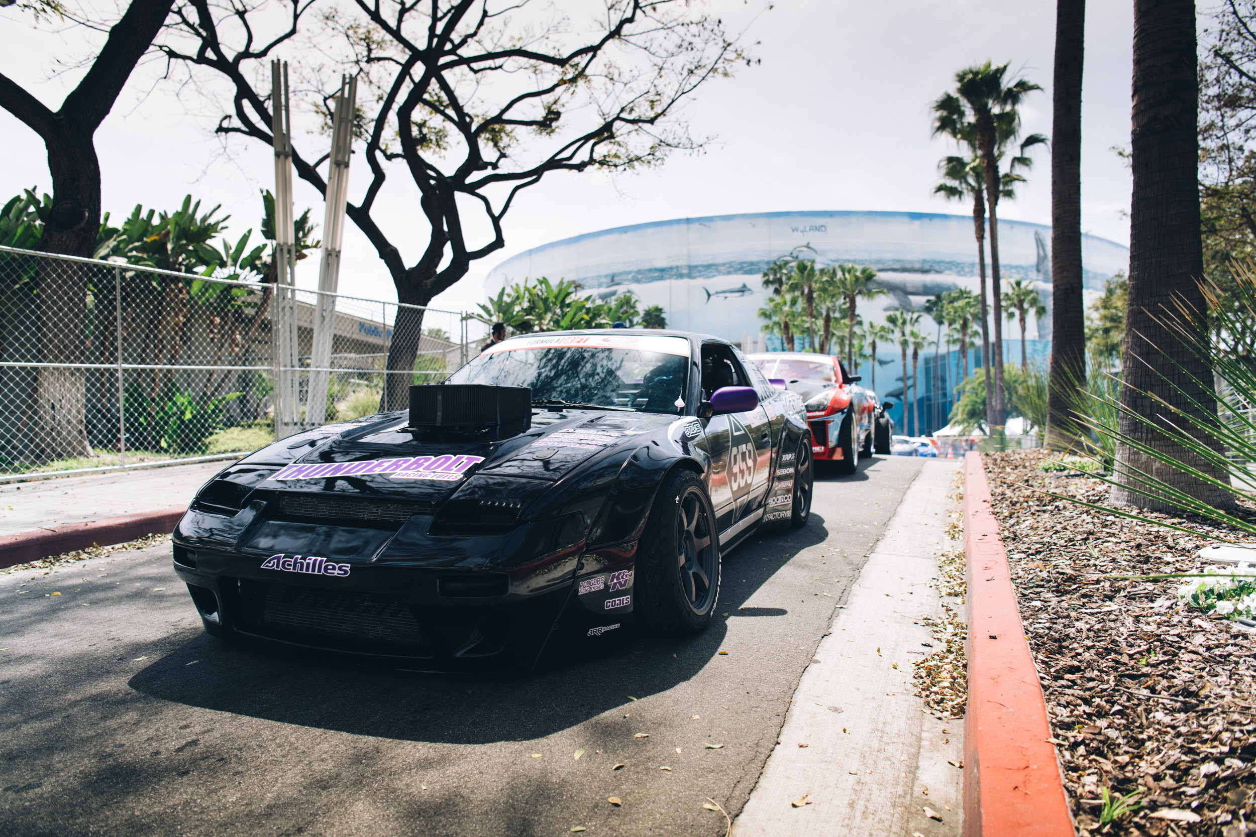 For the first time, we were able to attend Formula Drift's Media day, a day of ride alongs and practice runs in the name of journalism and publicity. In the four driving sessions, Matt was able to make practice runs while the team was able to get data for this weekend's competition.
