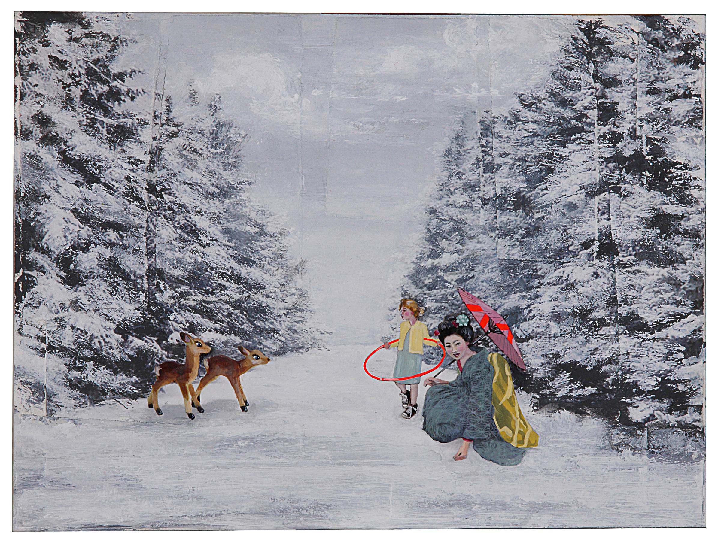 Geisha, Deer, and Hula Hoop