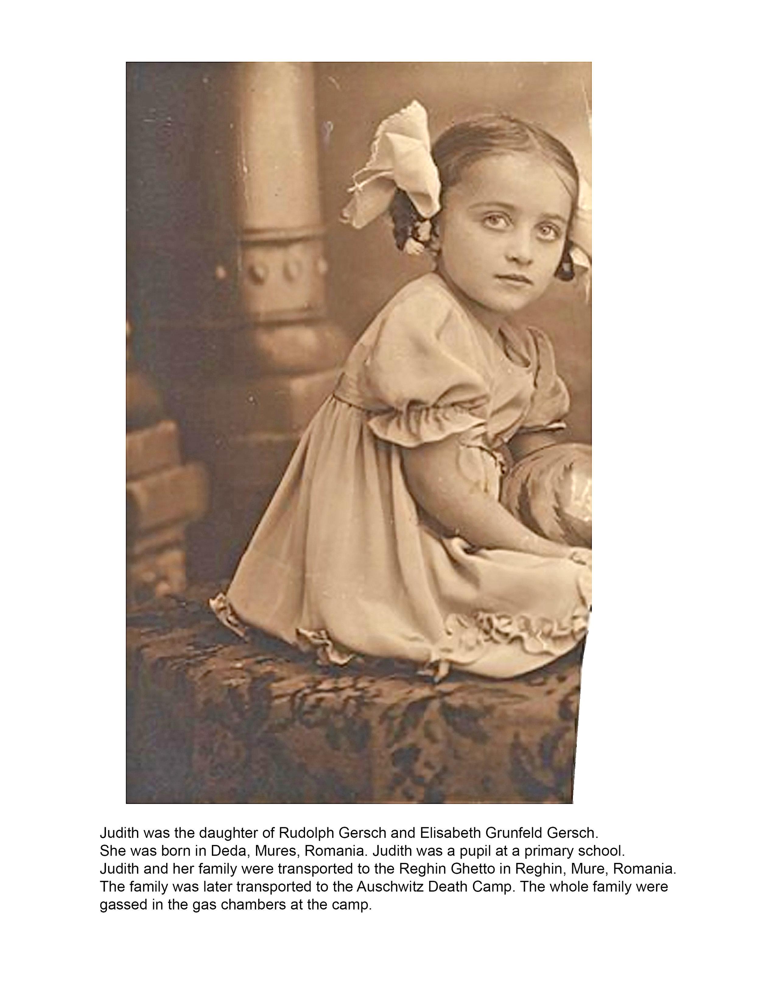Judith Gersch History