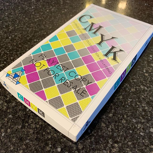 #CMYK 🌈 prototype assembled and ready to show off! . . . . . . . . #tricorn #tricorngames www.tricorngames.com #boardgames #boardgame #tabletop #tabletopgames #game #games #gamer #gaming #boardgamer #boardgamegeek #bgg #gamer #gaming #playtest #play #testing #development #team #teamwork
