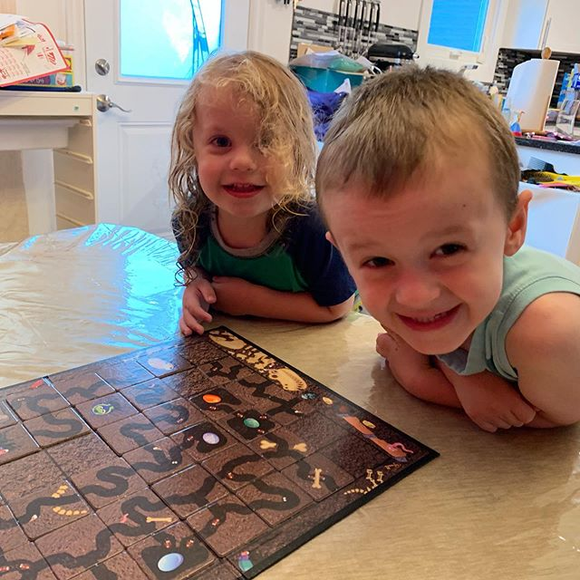 Two happy boys playing Ant Colony! I've mentioned it before, but this is a really fantastic game for the 3-8 age range and quite enjoyable to play with them. . . . . . . . . #tricorn #tricorngames www.tricorngames.com #boardgames #boardgame #tabletop #tabletopgames #game #games #gamer #gaming #boardgamer #boardgamegeek #bgg #gamer #gaming #gameswithkids #gamingwithkids