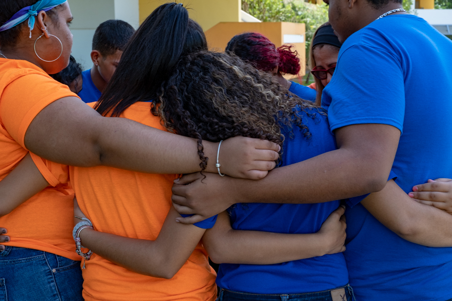 A moving end to a communications class in Caimito