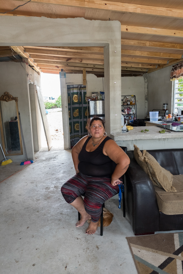 Community assistance to those still suffering from Hurricane Maria one year later...this family lost the roof of their home which is still not repaired.