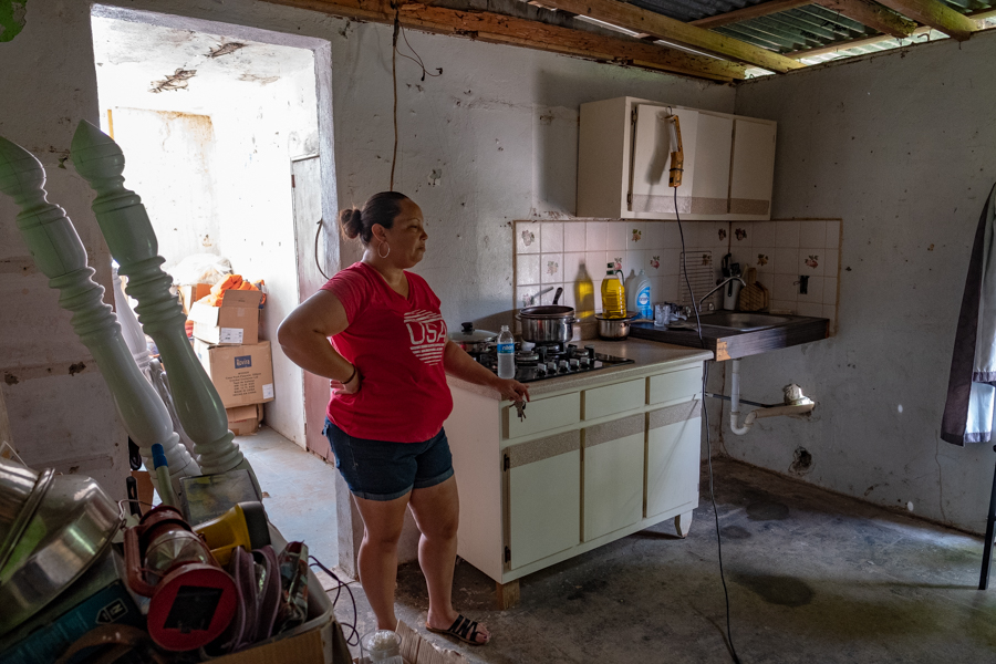 Hurricane Maria's aftermath...a kitchen waiting to be renovated