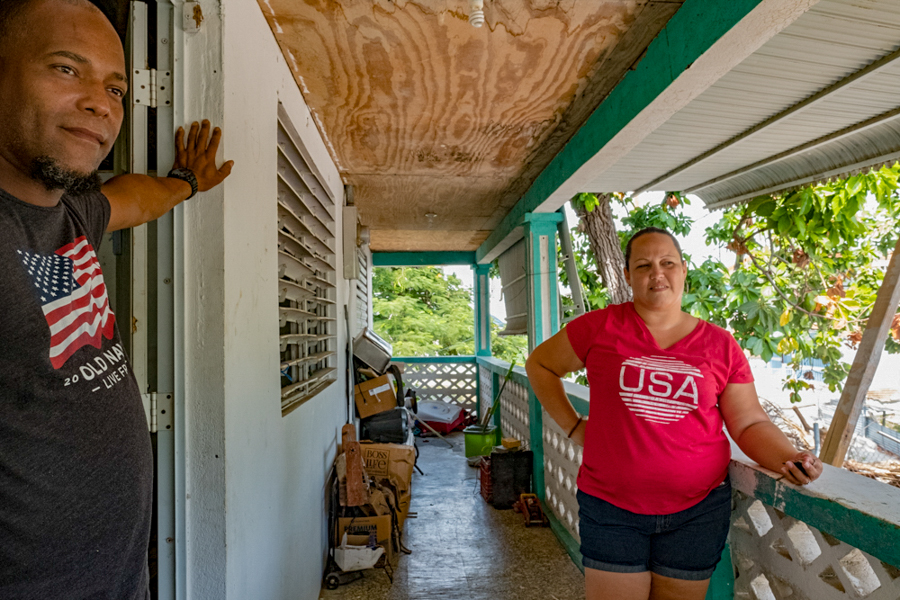 Optimistic despite the setbacks, a young couple begin the renovation process