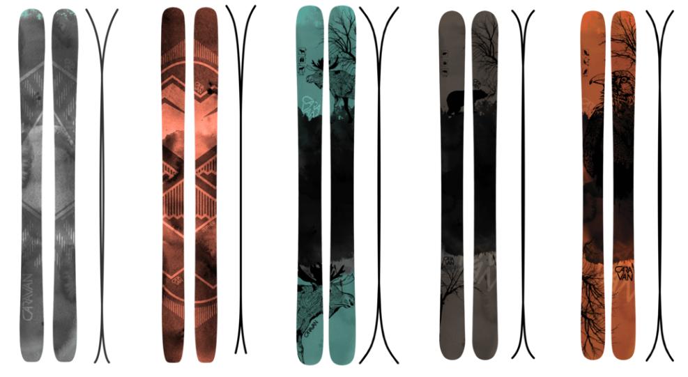 Handmade skis - Caravan Skis