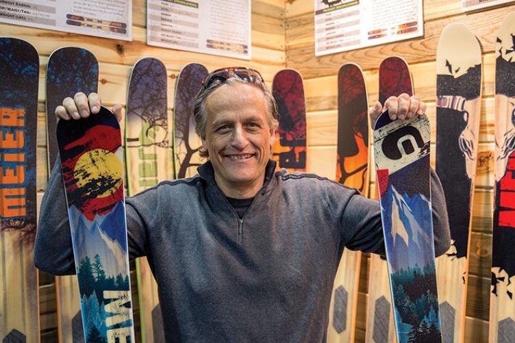 Ted Eynon Founder of Meier Skis