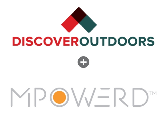 Discover Outdoors + Mpowerd logos