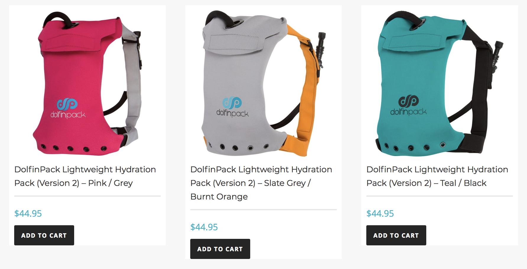 Dolfinpack Hydration packs