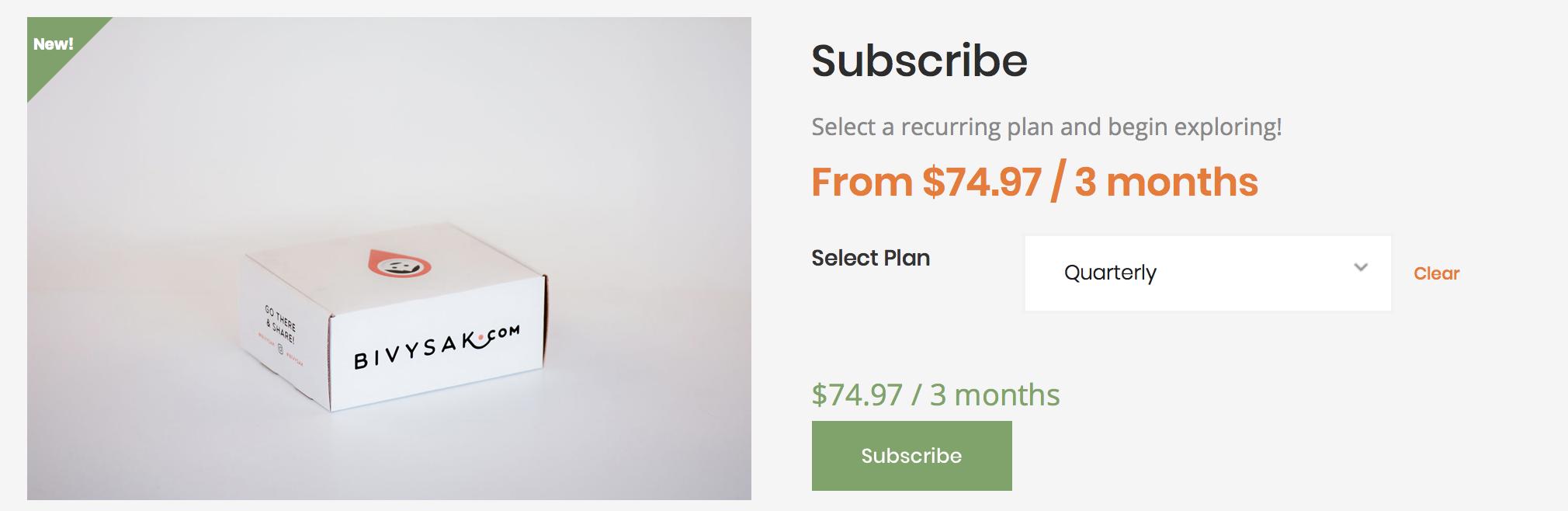 Bivysak Subscription Box