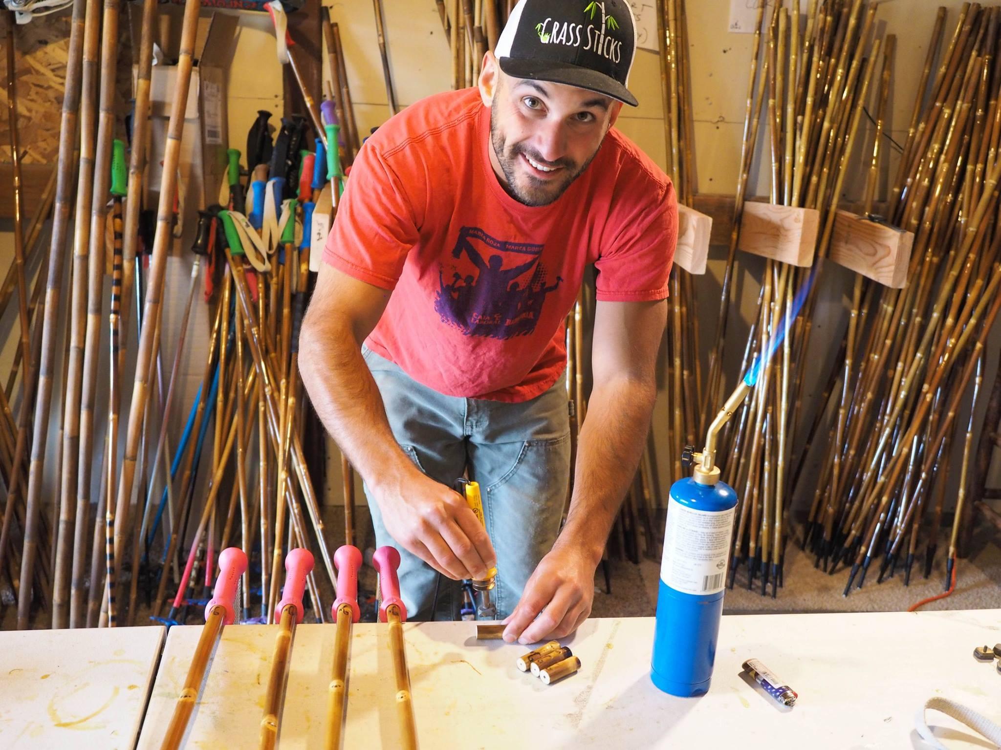 Bamboo Ski Poles Grass Sticks