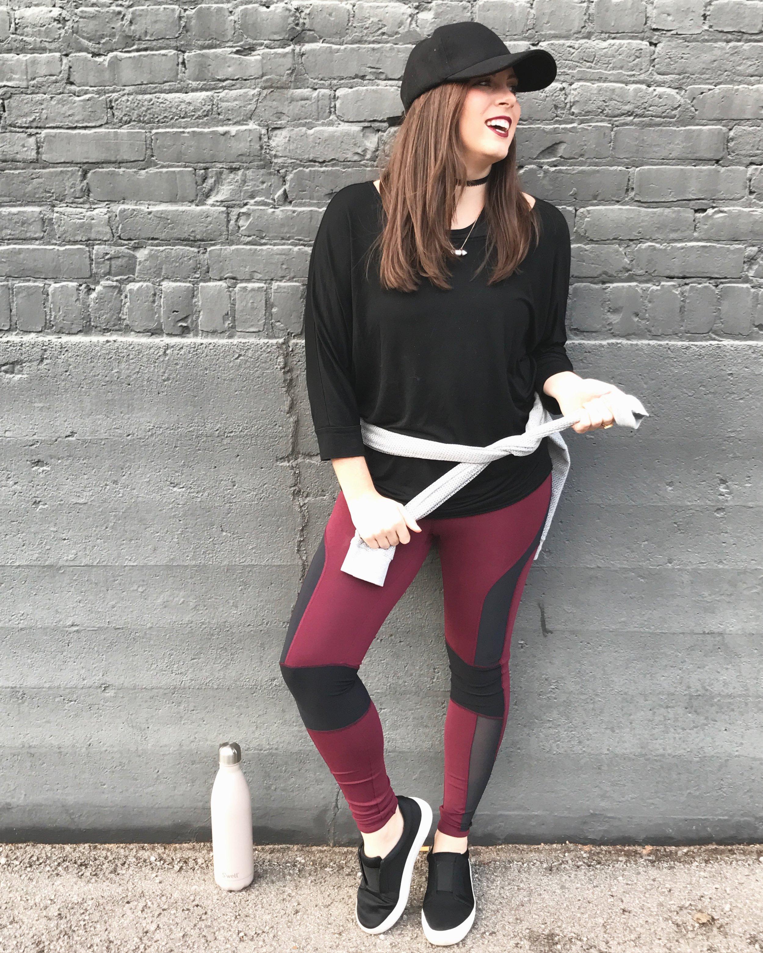 PHOTO: YURI FIGUEROA  Cool Rider Legging | Free People: e.Allen Boutique   Mesh Hoodie | Michael Stars::  e.Allen Boutique   Shoes:  JSlides   Angel Food Swell Bottle:  e.Allen Boutique