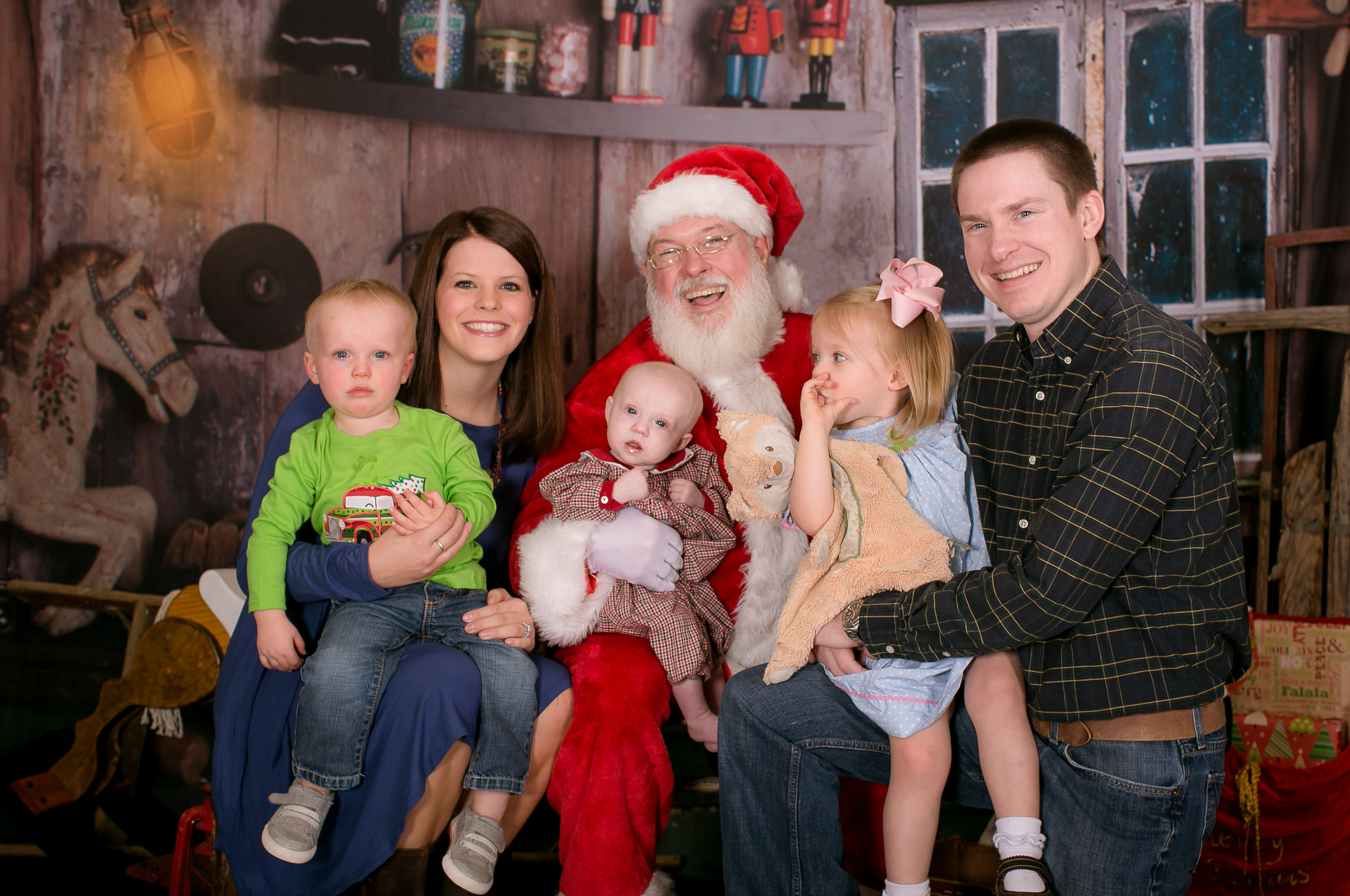 Chelsea and Wade (New Baby, Santa and Andi (Baby Tres), and Eric and Abby Cate (Firecracker)