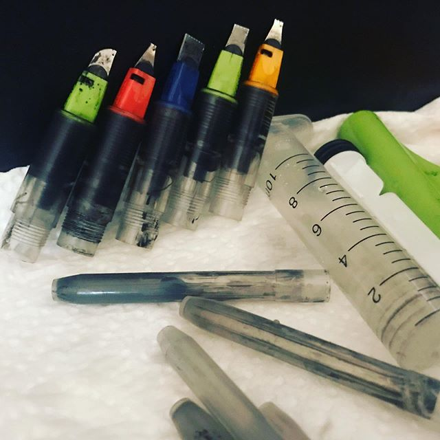 A bit of TLC for my Parallel Pens. #parallelpen #parallelpens #ink #indiaink