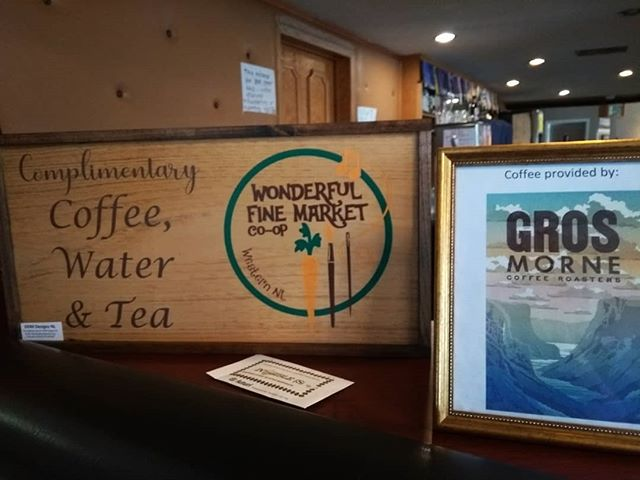 Happy long weekend! The market is open and we have a brand new sign to let you know we have free coffee and tea. Our vendors are set up in the lounge at the Legion, so pop by and have a look! #cornerbrook #newfoundlandmade #cornerbrooklegion