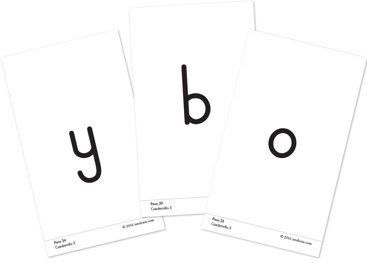 Tarjetas para repasar fonemas