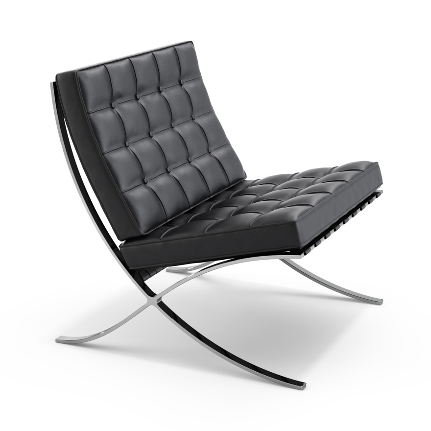 Barcelona Chair, 1929. Leather and Steel.