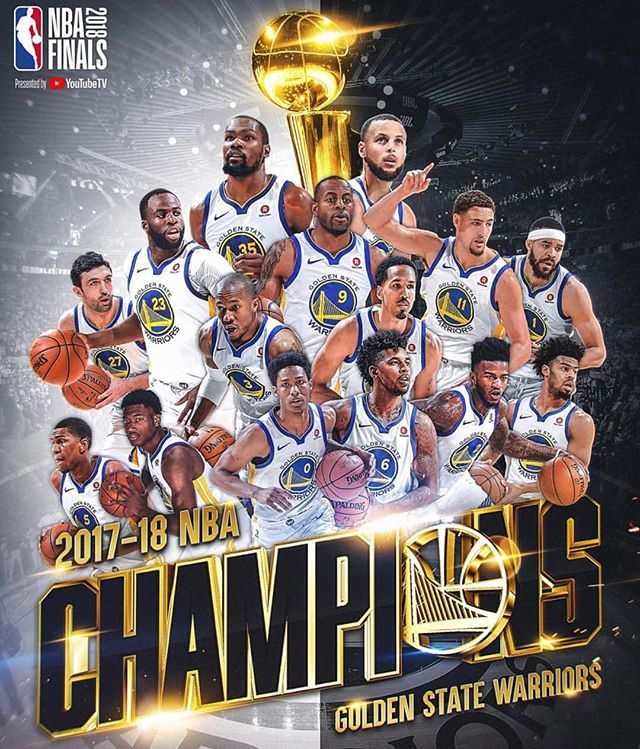 AGAIN.  The @warriors are the 2017-18 @nba CHAMPIONS!!! #backtoback #congratulations #thetomboibrunch #becauseladieslovesportstoo #sportsentertainmentandmimosas #realityradio #nbafinals2018