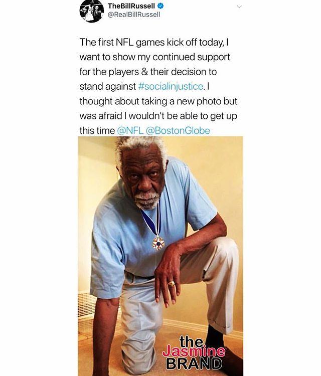 @realbillrussell Still I kneel. #shutupanddribble #morethananathlete #thetomboibrunch #becauseladieslovesportstoo #sportsentertainment&mimosas #takeaknee
