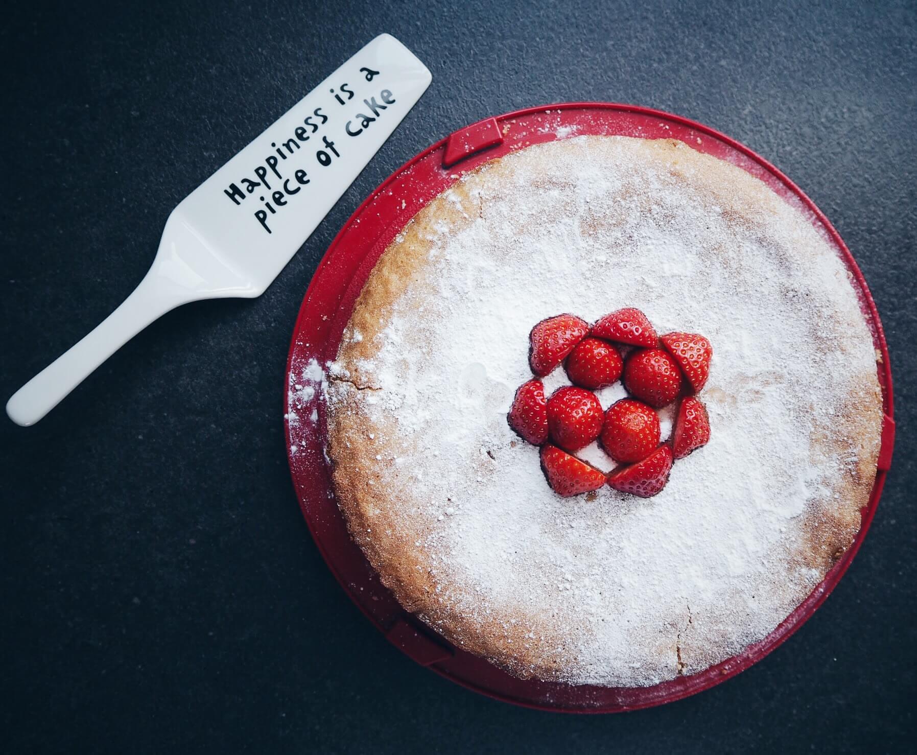 Homemade strawberry and cream cake - yum!