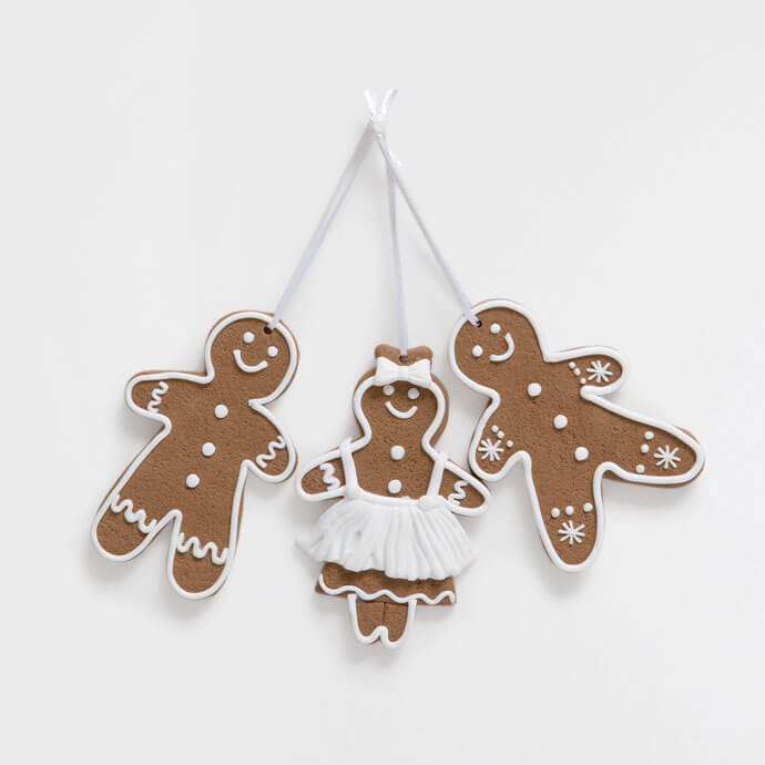 Gingerbread Doll-Shaped Tree Decorations
