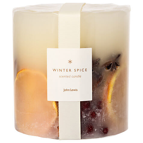 Winter Spice Scented Christmas Candle