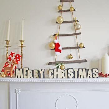 Wooden Merry Christmas Blocks