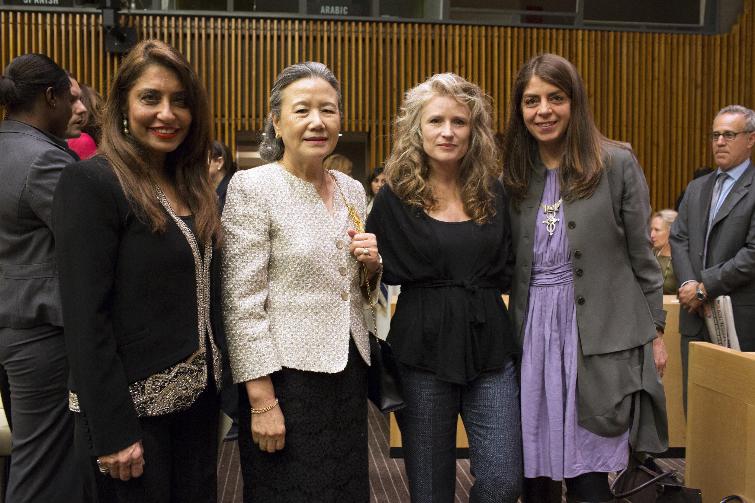Ban Soon-taek_UNWFP Chair Muna Rihani Al-Nasser_Cynthia Hill_Nancy Abraham .JPG