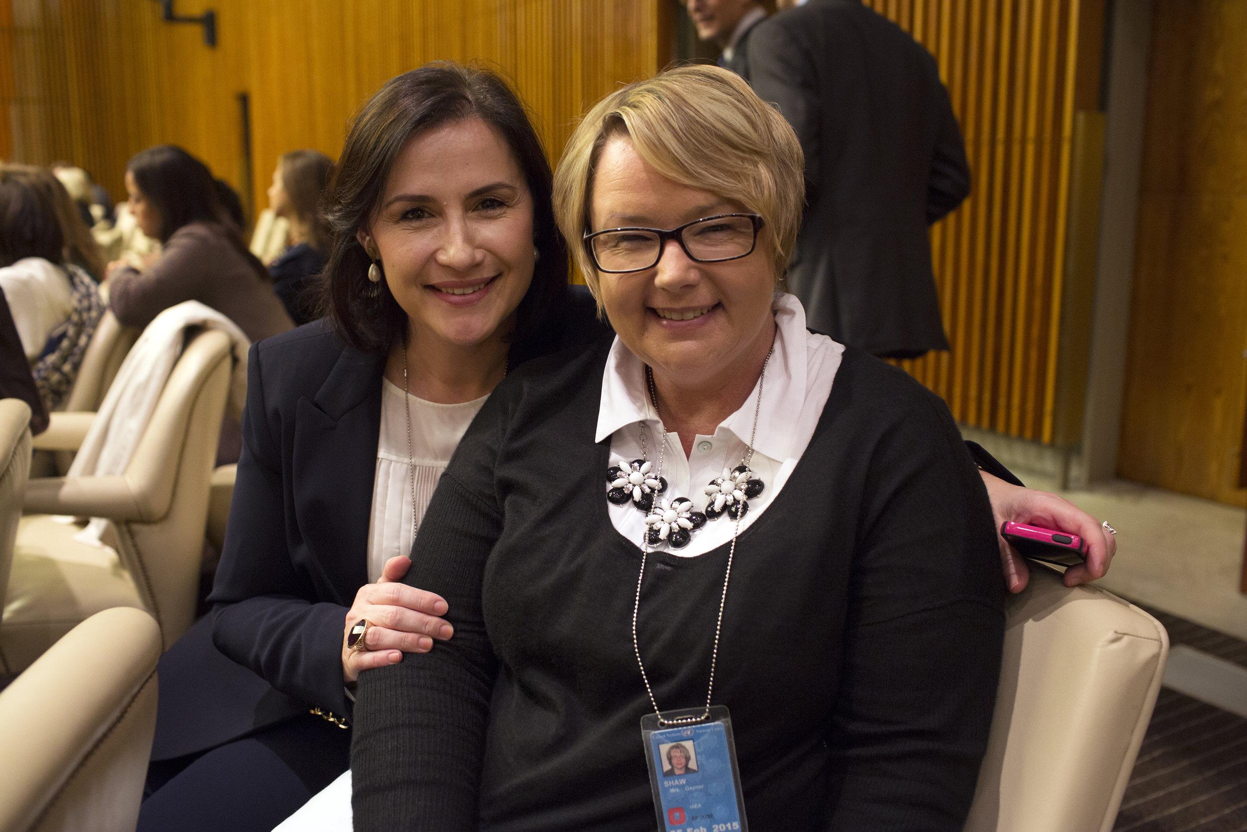 Gaynor Shaw (left) and Valbona Neritani .JPG