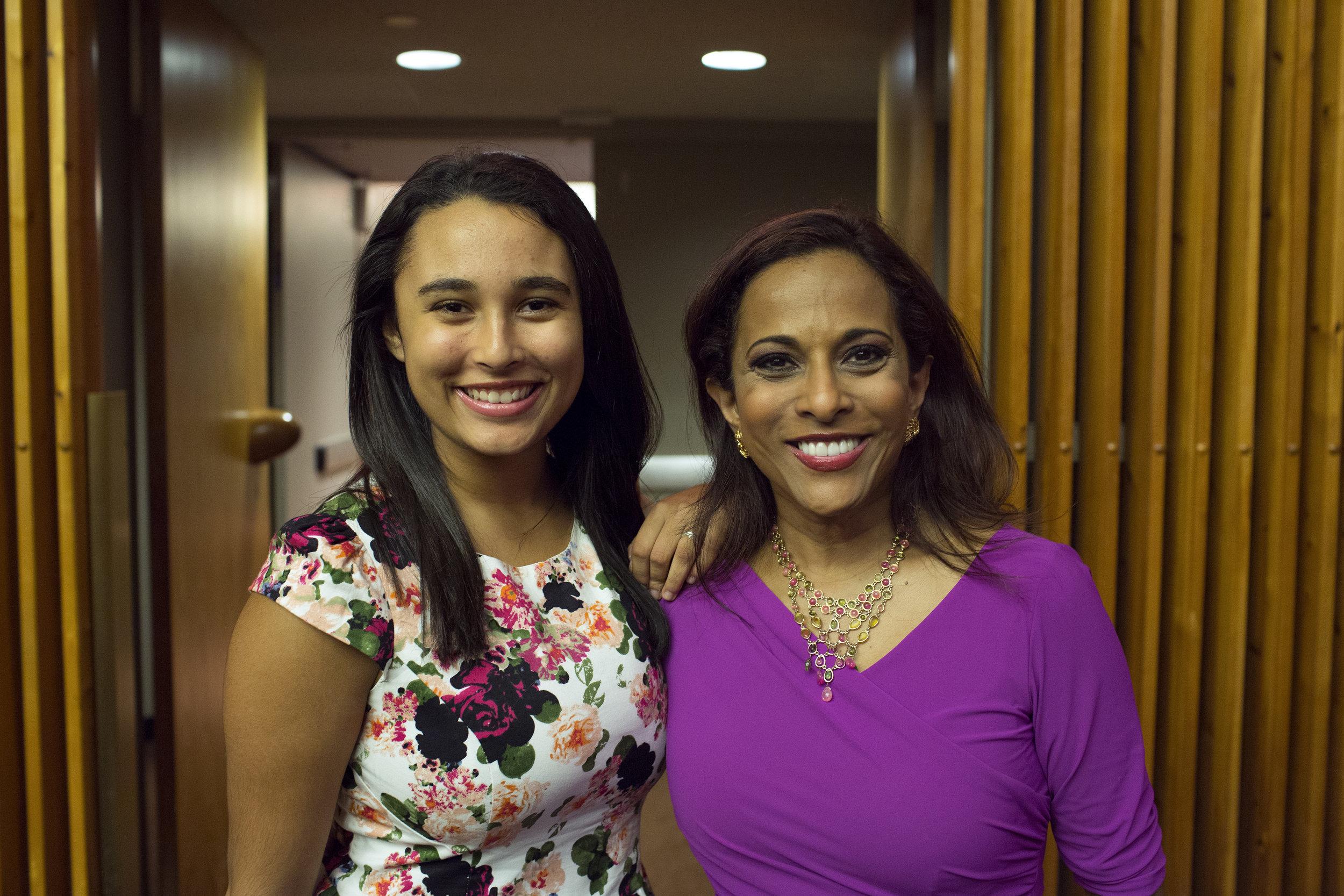 Uma Pemmaraju of Fox News (right), and her daughter, Kirina Alana Devi .JPG
