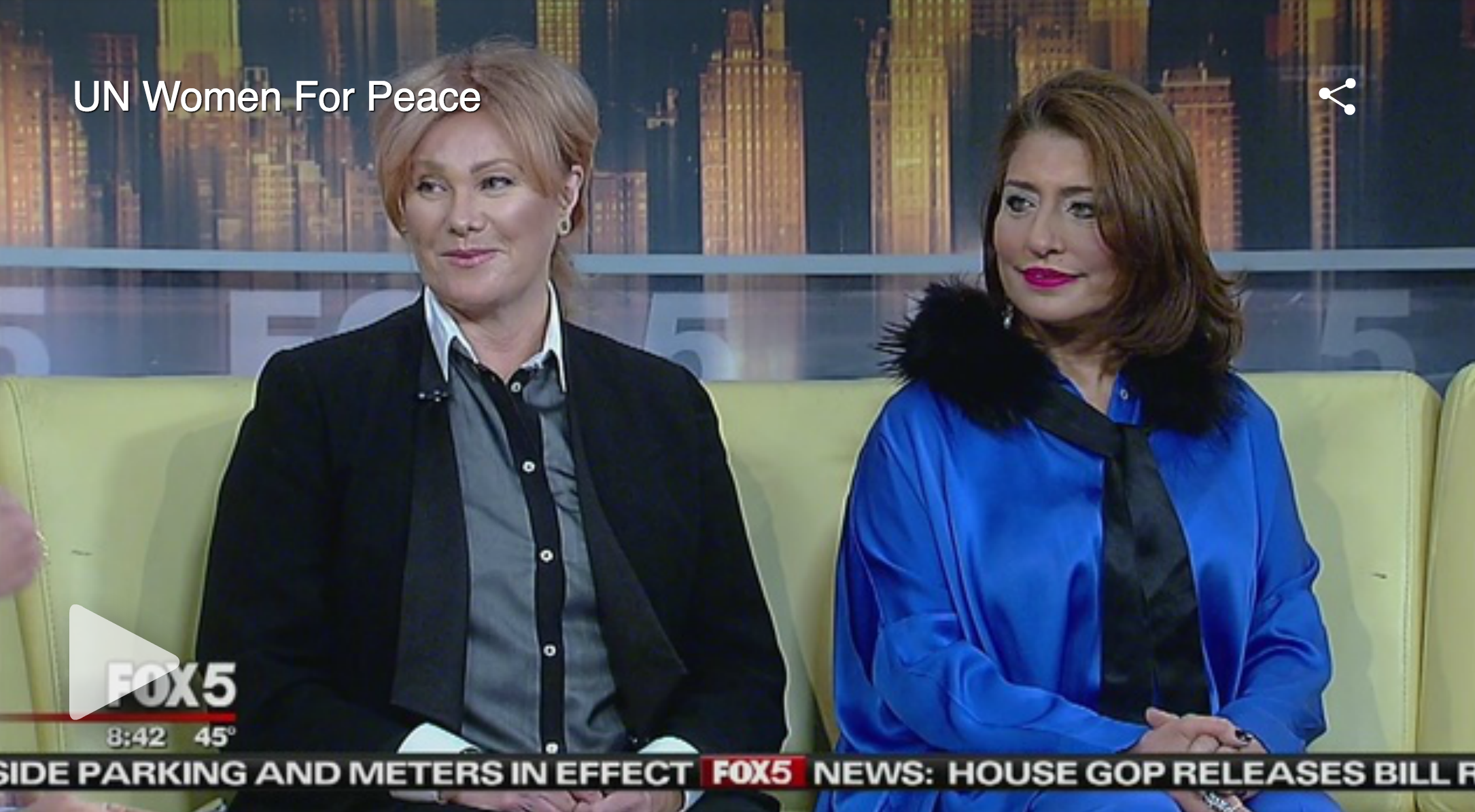Muna Rihani on Good Day NY - Muna Rihani & Deborra Lee Furness preview the UN Women for Peace organization and International Women's Day 2017. - 3/7/2017