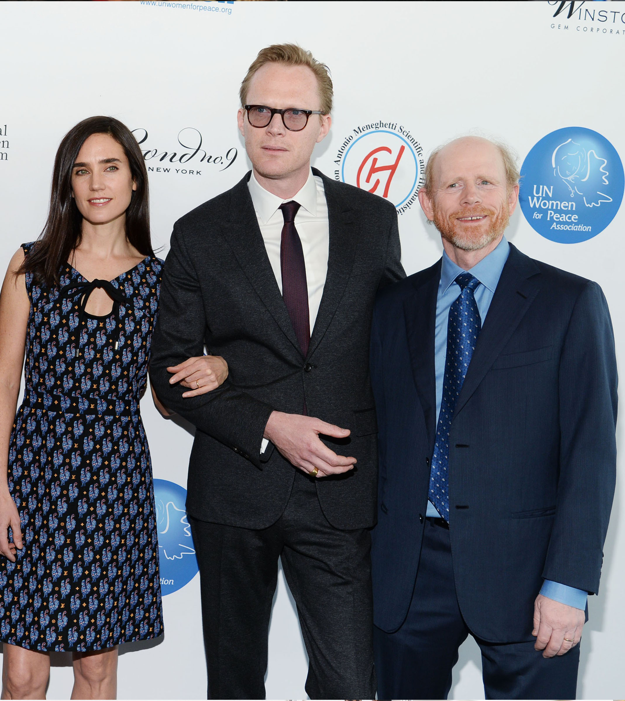 Jennifer Connelly, Paul Bettany & Ron Howard at the 2015 UNWFPA Annual Luncheon