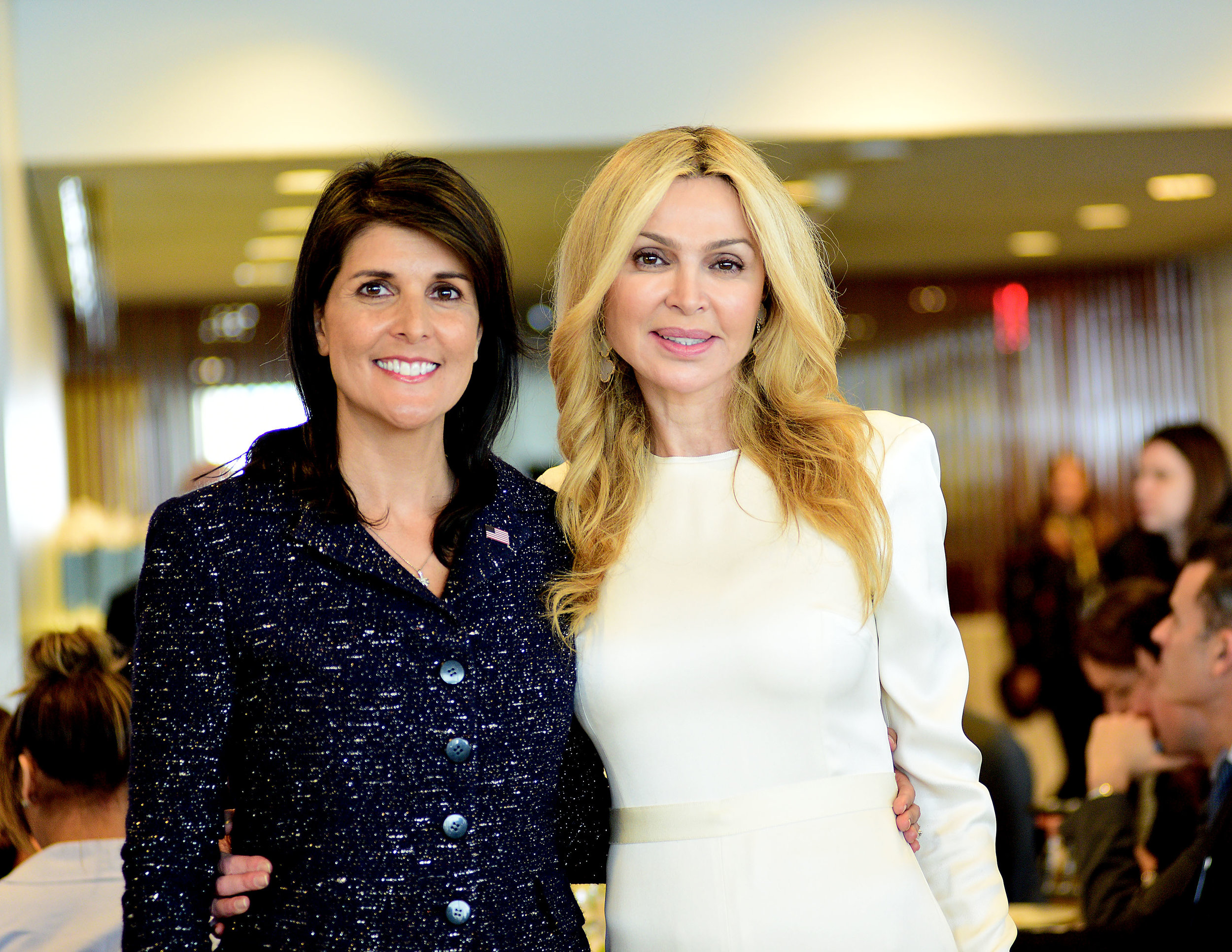 H.E. Ambassador Nikki Haley with Honoree Sheikha Rima Al-Sabah at the UNWFPA Annual Awards Luncheon on March 8, 2018
