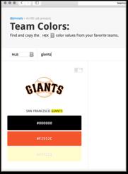 pick you favorite team hex colors