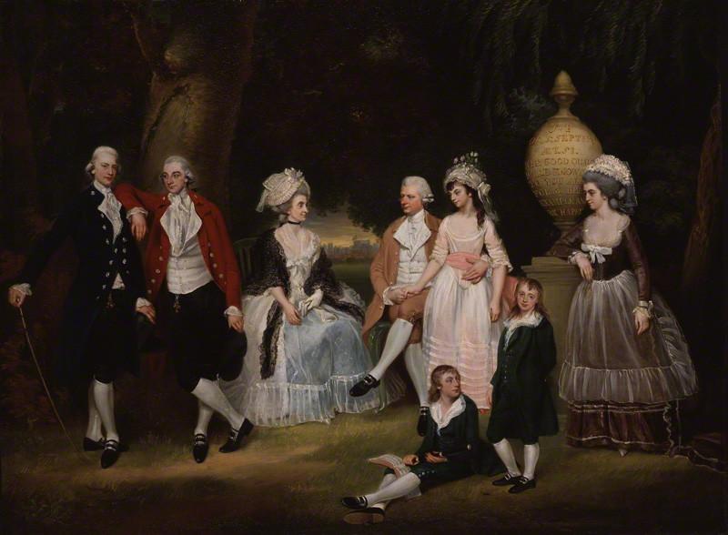 Downman, John.  The Fourdrinier Family.  1786. National Portrait Gallery, London.