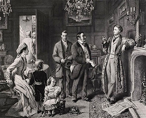 Frith, William Powell.  The Road to Ruin: Arrest.  1878.