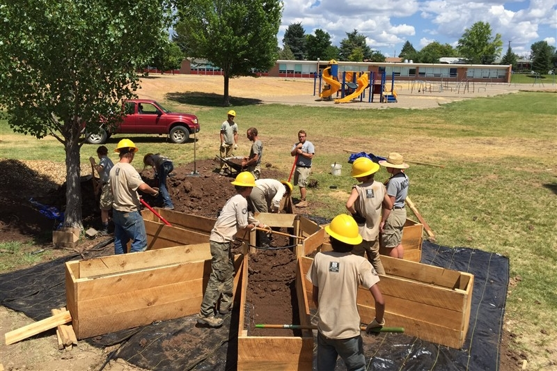 Region's first Farm Corps helps install Mesa Garden