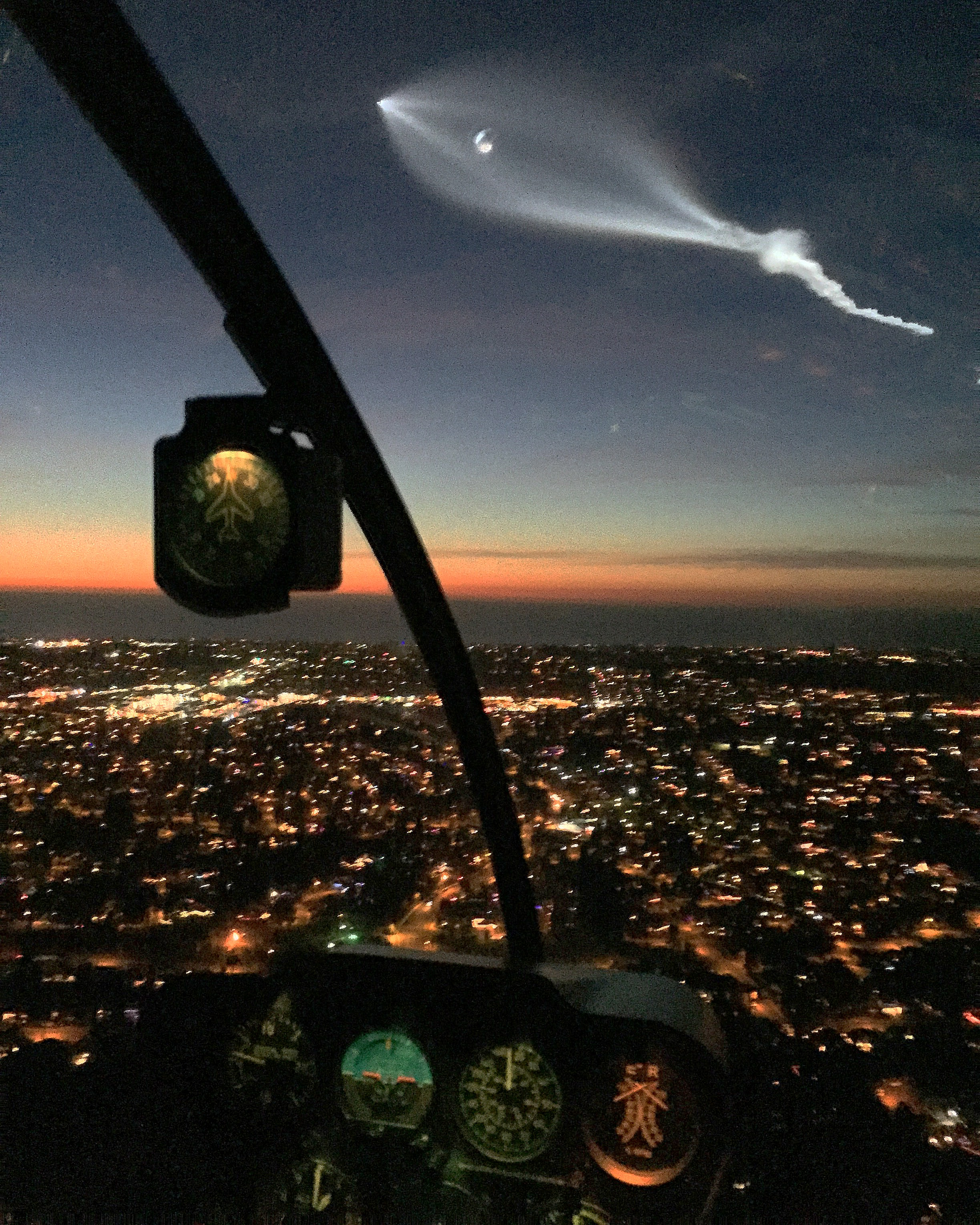 San Diego County Helicopter Tour - SpaceX Launch View From Waverider Helicopter Tours
